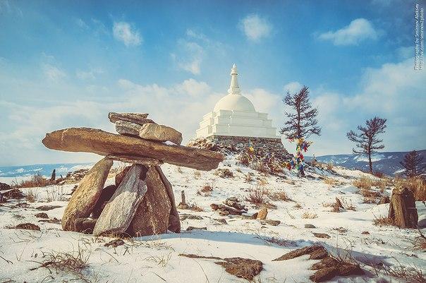 Ступа Будды (остров Огой, Байкал)