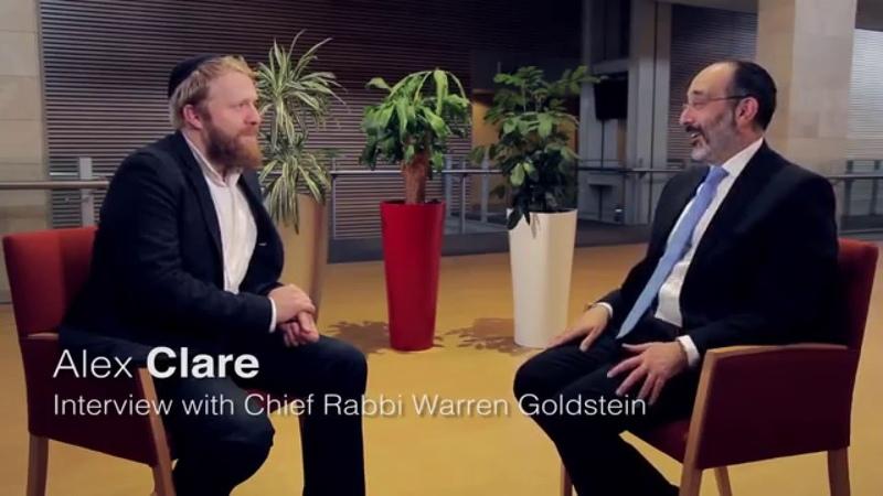 Alex Clare in conversation with Chief Rabbi Goldstein