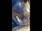 Фонтан из звезд,конфетти,прозрачных и синих шаров