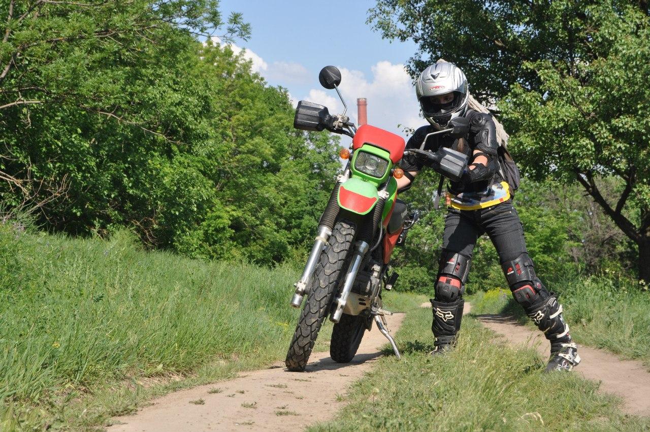 kawasaki горный мотоцикл