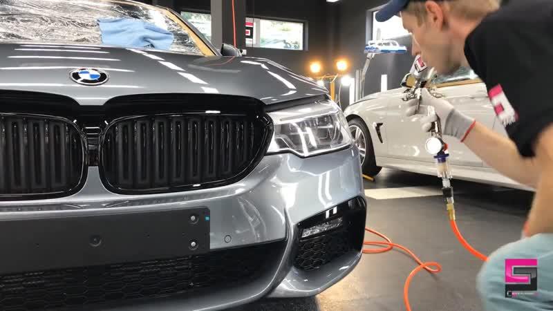 BMW полировка авто керамикой Ceramic Pro 9H в 2 слоя