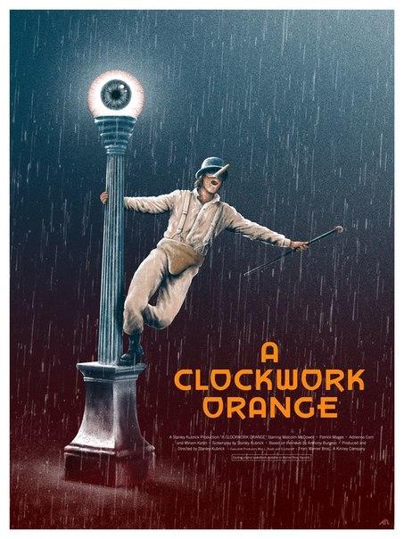 A clockwork orange movie poster insert