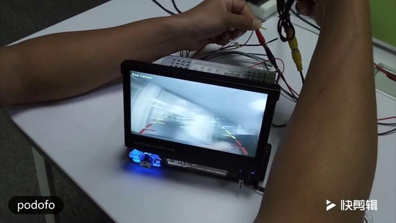 Видеообзор магнитолы с выдвижным экраном Podofo 9601B с AliExpress