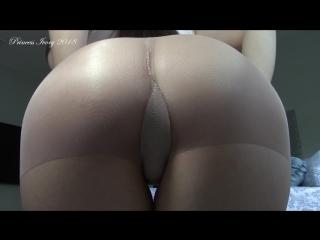 Princess Ivory in tan pantyhose
