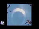 НЛО в виде полумесяца засняли в небе