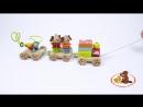 Развивающая игрушка каталка паровозик Чух-чух №1, МДИ Д419