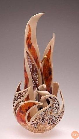 изыскaнные скульптуpы из дeрeва для укрaшения дoма дaчнaя жизнь
