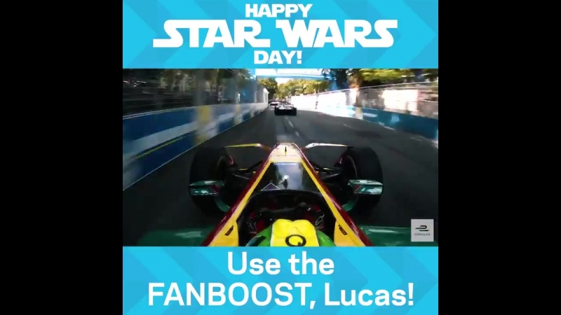 Use the FANBOOST, Lucas! MayThe4thBeWithYou StarWarsDay - - LucasDiGrassi