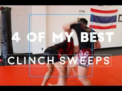 4 BEST Muay Thai Clinch SWEEPS Real Time Sparring