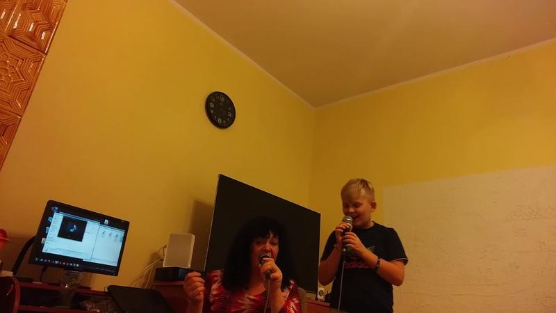 Ostatnia próba przed nagraniem w Studiu śpiewamy z wnuczkiem Dominikiem Prośba dzieci cover