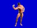 [Gachimuchi] Anthony Capriati showing biceps on a blue screen (Энтони Каприати, показывающий бицуху на синем экране)