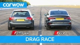 Audi S3 vs RS4 B7 - DRAG &amp ROLLING RACE! Can a 2.0 Turbo Auto beat a 4.2 V8 Manual from 2008