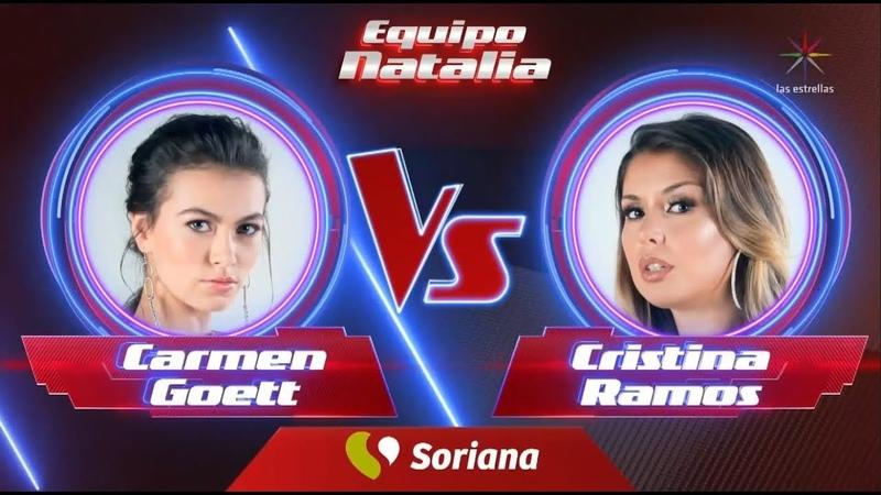 La Voz México Carmen Goet VS Cristina Ramos Las Batallas 28 de Octubre 2018