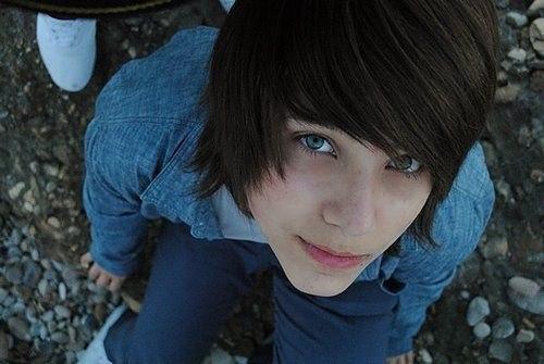 Blue black hair boy