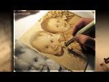 Пирография (выжигание по дереву) Детский портрет