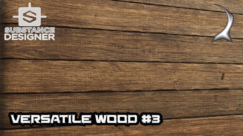 Versatile wood generator tutorial - part 3 (color, normal, roughness) [Substance Designer]