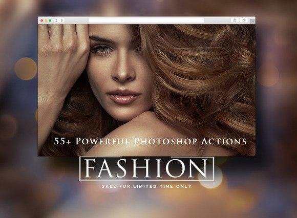 Пресет 55 экшенов для модных фотографий для lightroom