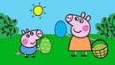 Peppa Pig Paintbox - Peppa Pig Egg Hunt Coloring Pages | Cartoon Episodes 7 PeppaPig
