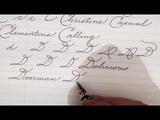 Write cursive with Schin A, B, C, D, E, F