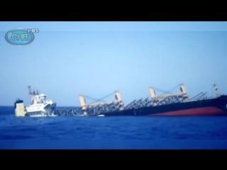 ►Огромный КОРАБЛЬ ТОНЕТ в море на глазах! _ Как тонет Большой Корабль _ Гибель Б
