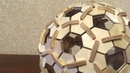 Geodesic sphere of plywood. Assembled without glue. Scroll saw project