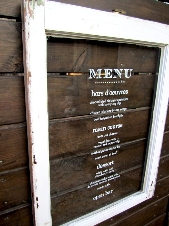 Check Presenters-Bar Menu Holder-Woodblock Style-Menu Holder ...