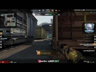 ZywOo clutch 1v4 vs Singularity | DaddySkins Western League