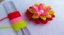 Hand Embroidery Amazing Trick Easy Woolen Flower Trick Easy Sewing Hack with Scale