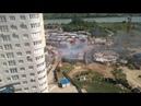 Пожар в гаражах рядом с ЖК Фонтаны и ЖК Южный парк, Краснодар, 15 августа 2018 - часть 1