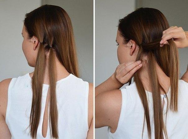 Сделать прически с подобранными волосами