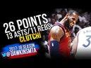 LeBron James Triple-Double 2018 ECSF GM1 Cleveland Cavaliers vs Raptors - 26-13-11-CLUTCH!