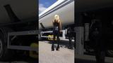 DANA LABO boots my passion - Black Widow latex catsuit