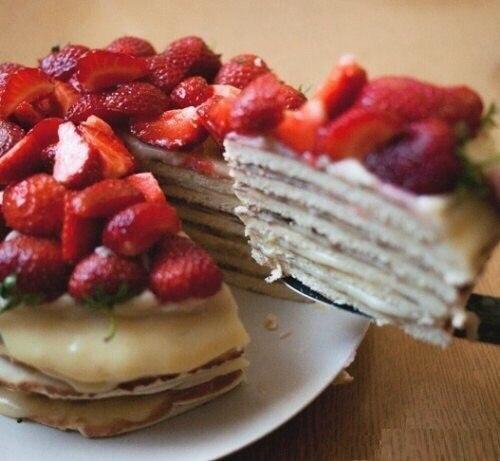 Быстрый и вкусный творожный тортик на сковороде.