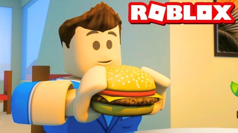 Я стал толстым от такой еды в roblox! Симулятор толстяка роблокс