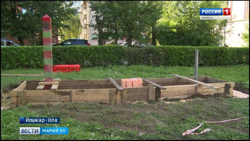 Новости: В Йошкар-Оле начали установку памятника воинам-пограничникам