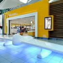 A piece of Amsterdam's busy Schiphol airport was refreshed by Dutch designers Tjep the Schiphol Departure Lounge 4...