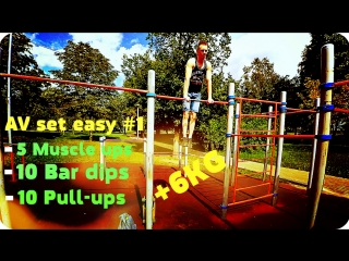 Muscle up +6KG 1 step (my routine trainning) street workout/calisthenics
