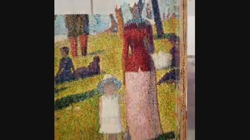 Картина на пузырчатой плёнке