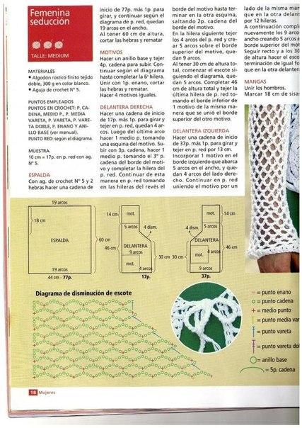 Delicadezas en crochet Gabriela: 80 Patrones gratis : Blusas ...