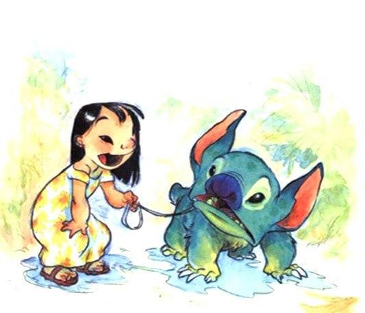 Лило и Стич собери шары - игры девочек Winx