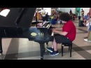 Ragtime street pianist all'aeroporto di Palermo
