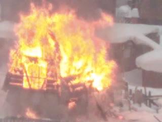 Пожар в Заельцовском районе