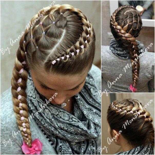 детские прически на длинные волосы с помощью кос