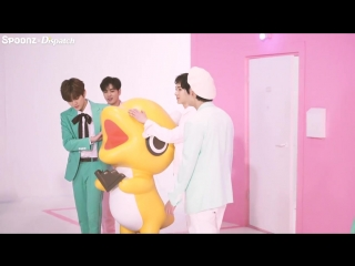 BTS NU'EST W на съёмках клипа на песню I Don't Care (with Spoonz)