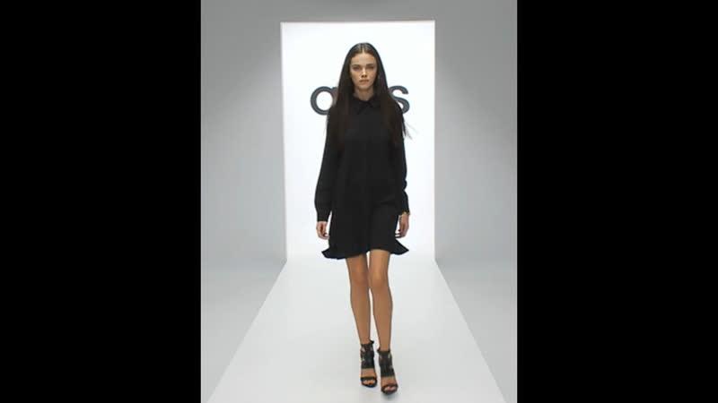Платье-рубашка свободного кроя черного цвета ASOS Glamorous