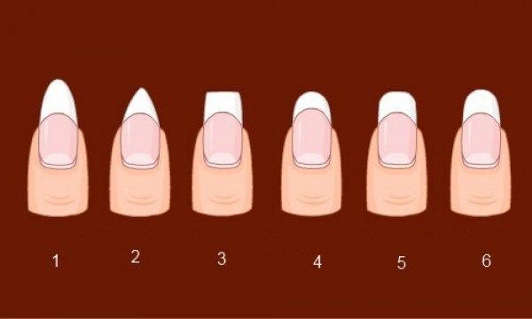Красивый маникюр во многом зависит от формы ногтей.  Для начало выбери свою форму ногтей:        Выбрали?.