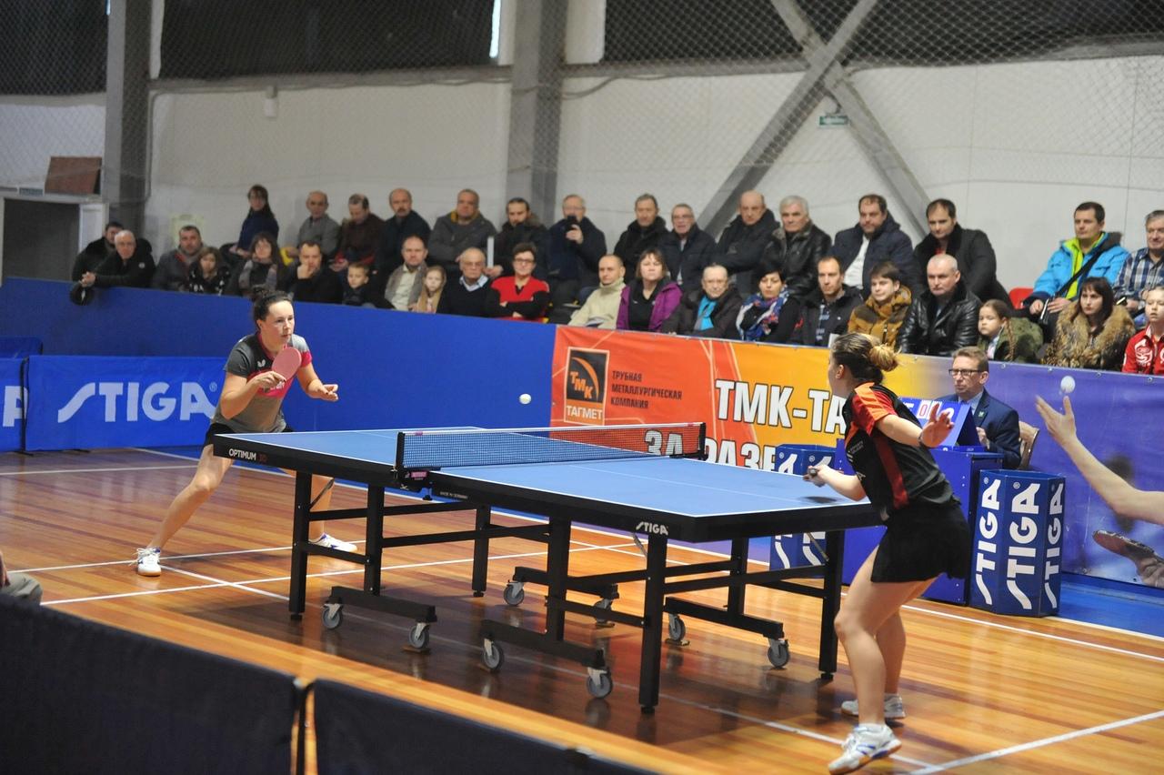 Женская команда «ТМК-ТАГМЕТ» по настольному теннису победила в первом матче четвертого раунда Кубка Европы