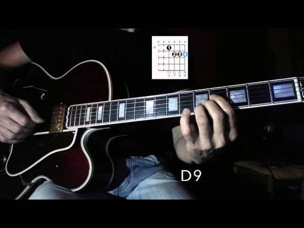 Li'l Darlin' - Jazz Guitar Chord Melody Harmonization 2 - Chord Shapes