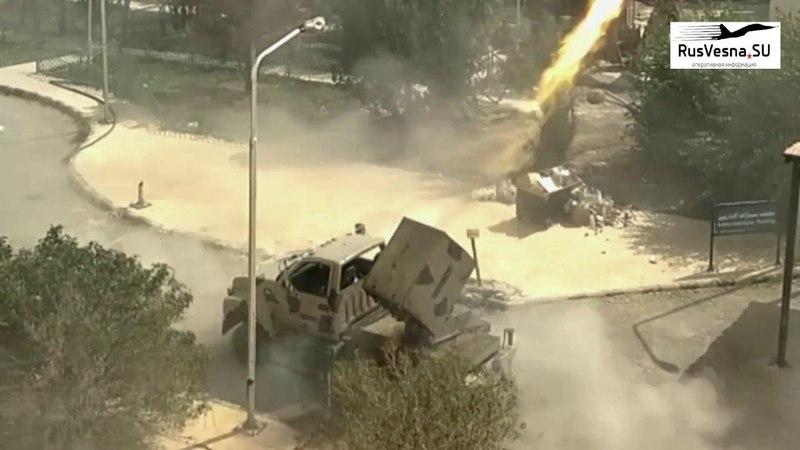 Море огня и смерти в Дамаске Решающий удар смертоносных систем РСЗО убивший множество боевиков