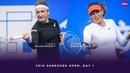 Timea Bacsinszky vs Maria Sharapova 2019 Shenzhen Open Day 1 WTA Highlights
